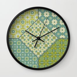 Quilt 1 Wall Clock