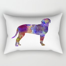 Austrian Black and Tan Hound in watercolor Rectangular Pillow