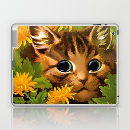 "Louis Wain's Cats ""Tabby in the Marigolds"" Laptop & iPad Skin"
