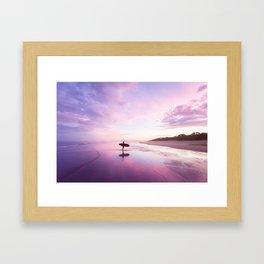 Mudjimba Surf Sunset Framed Art Print