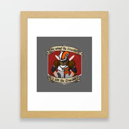Lord Shaxx is the Crucible Framed Art Print