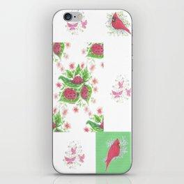 Cardinal Ladybug Pattern iPhone Skin