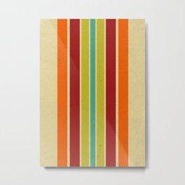 Retro 70s Color Palette IV Metal Print