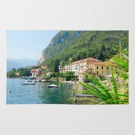 Beautiful Scenery in Menaggio Lake Como Italy Rug