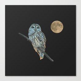 Owl, See the Moon (sq) Canvas Print