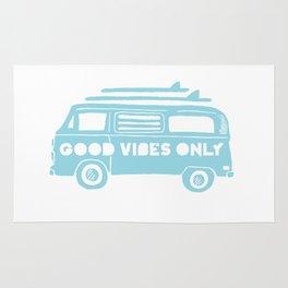 Good Vibes Only retro surfing Camper Van Rug