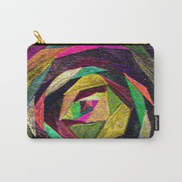 Quilted Rose Carry-All Pouch