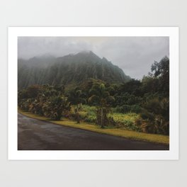 Rustic Mountains Art Print