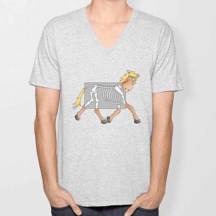Horse Xray Cartoon Unisex V-Neck