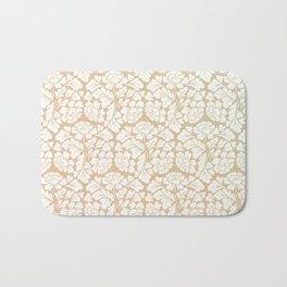 William morris pattern in gold Bath Mat