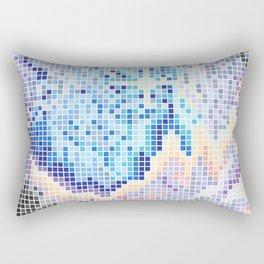Pixelated Nebula Blue Rectangular Pillow