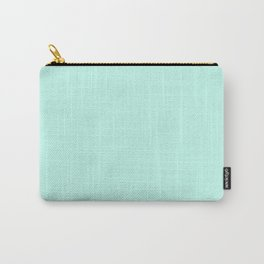Pastel Mint - Sea Foam - Light Blue Green - Solid Color Carry-All Pouch