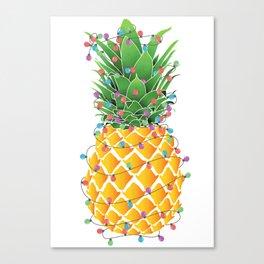 Pineapple Christmas Canvas Print