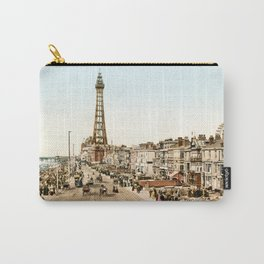 The Promenade at Blackpool, Lancashire, England 1898 Carry-All Pouch