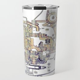 Mechanical Diagram Travel Mug