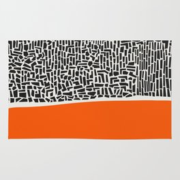 City Sunset Abstract Rug