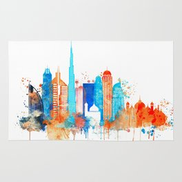 Dubai watercolor Rug