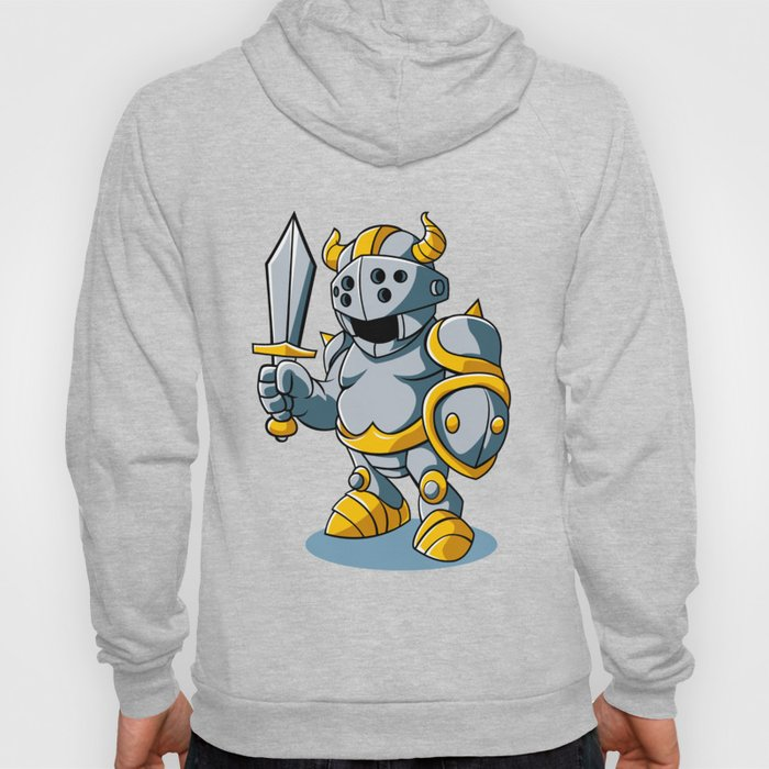 Cartoon knight With Swords Shield Helmet Army Uniform Hoody