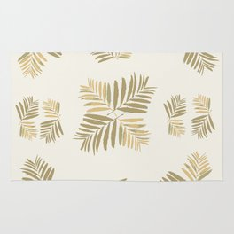 #Tropical #Gold #leaves #Home-sweet-home #pattern #tan #metal #decor, #buyart, #society6, Rug