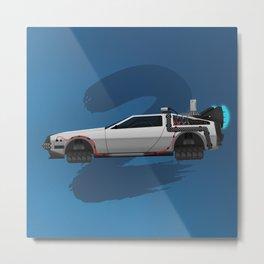 Back to the Future DeLorean 2 - alt Metal Print