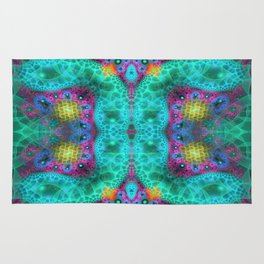 Coulorful transparent patterns, fractal abstract Rug