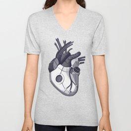 Cyberpunk heart Unisex V-Neck