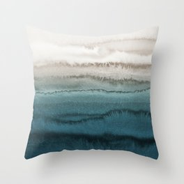 WITHIN THE TIDES - CRASHING WAVES TEAL Throw Pillow