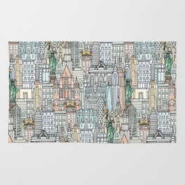 New York watercolor Rug