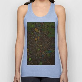 Bangalore old green map Unisex Tank Top