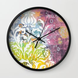 strange fruit - abstract painting Wall Clock