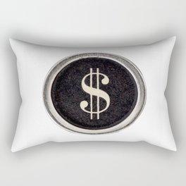 Vintage Dollar Sign Rectangular Pillow