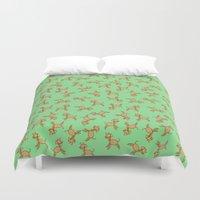 giraffes Duvet Covers featuring Giraffes! by Kashidoodles Creations