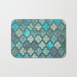 Moroccan Inspired Precious Tile Pattern Bath Mat