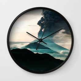 Mount Agung Volcanic Eruption Wall Clock