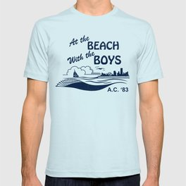 At the Beach with the Boys T-shirt
