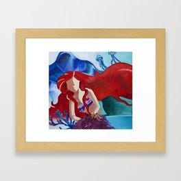 Ariel No Face Framed Art Print