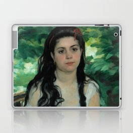 "Auguste Renoir ""En été - La bohémienne (In summer - Gypsy woman)"" Laptop & iPad Skin"