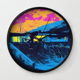 Tail Whip Scooter Stunt Wall Clock