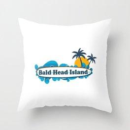 Bald Head Island. Throw Pillow