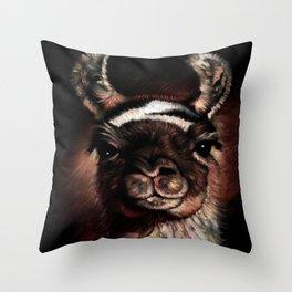 llama Cusco Peru Throw Pillow