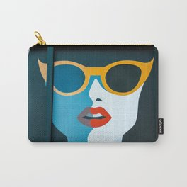 Girl with sunglasses Carry-All Pouch