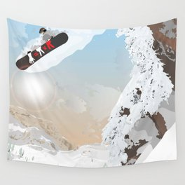 snowboarder Wall Tapestry
