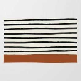 Burnt Orange x Stripes Rug
