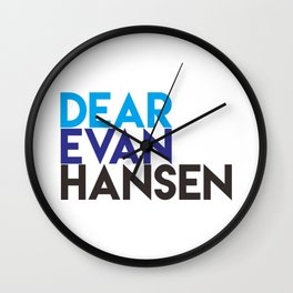 Dear Evan Hansen Wall Clock