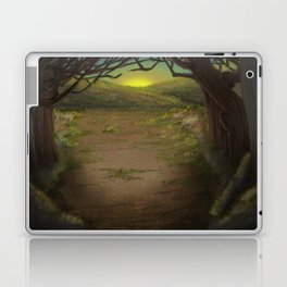 Forest Opening Out To A Meadow Laptop & iPad Skin