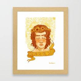 Sunflower Child Harry Framed Art Print
