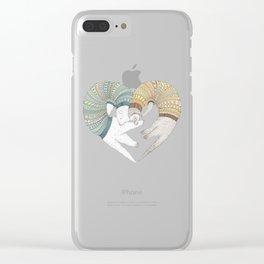 Ferret Sleep Love Clear iPhone Case