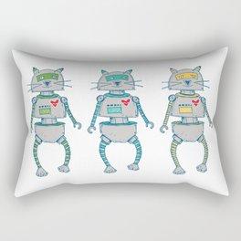 The Cat-Bot Trio Rectangular Pillow