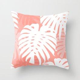 P E A C H Y  JUNGLE Throw Pillow