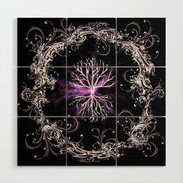 Tree of Life, Purple Universe, Cosmic Tree Wood Wall Art